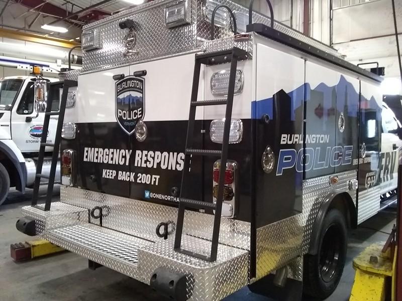 The emergency response vehicle - KATIE JICKLING