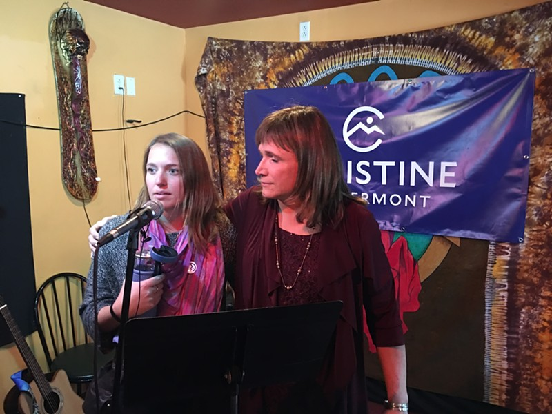 Christine Hallquist and her daughter Jillian - JOHN WALTERS