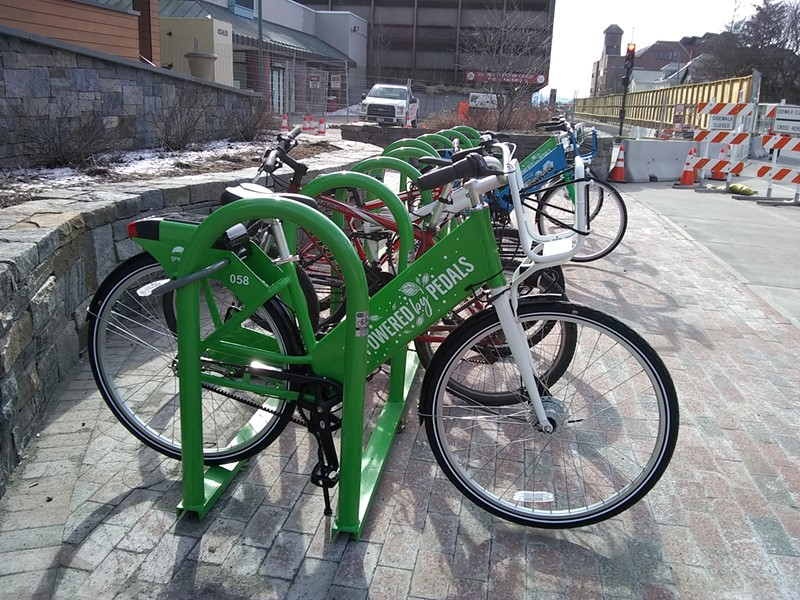 The Cherry Street bike share hub - KATIE JICKLING