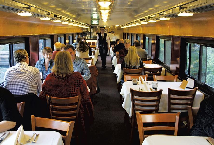 Passengers on the Champlain Valley Dinner Train - COURTESY OF THE CHAMPLAIN VALLEY DINNER TRAIN