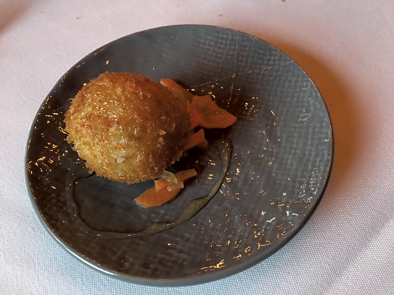 Croquette at Michael's on the Hill - PAMELA POLSTON