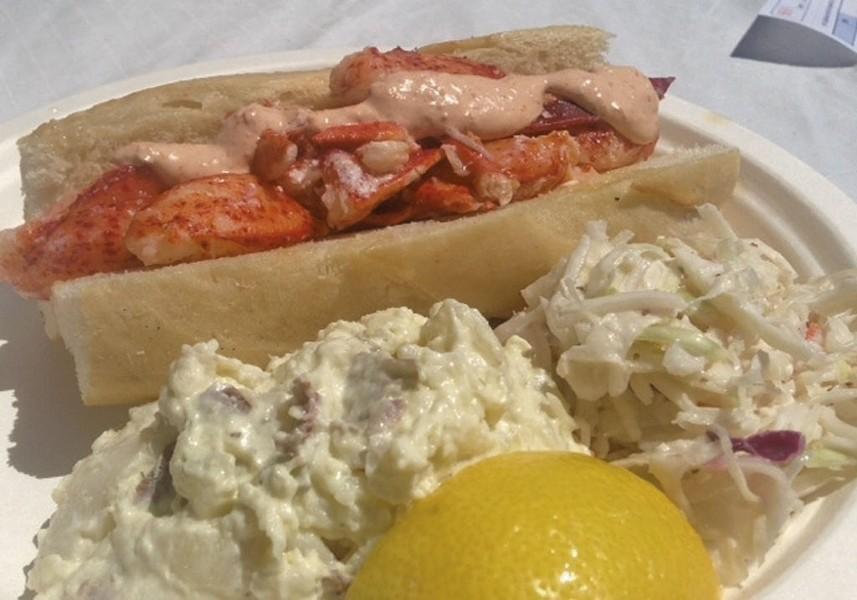 Lobster roll at Steamship Pier Bar & Grill in North Hero - COURTESY OF WALTER BLASBERG