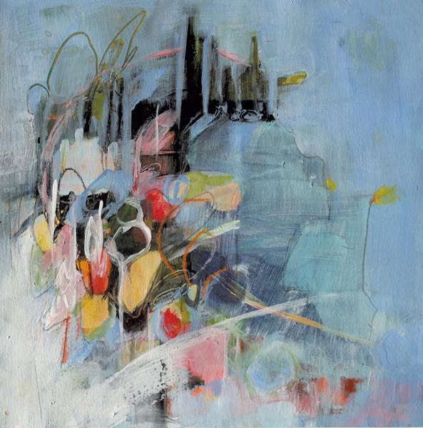 """Meadow Dusk"" by Sara Katz - ARTWORK COURTESY OF HALL ART FOUNDATION"