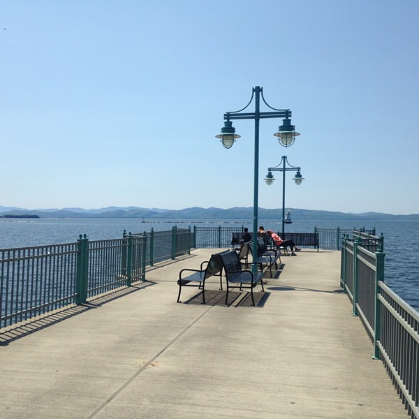 The Burlington fishing pier - MOLLY WALSH