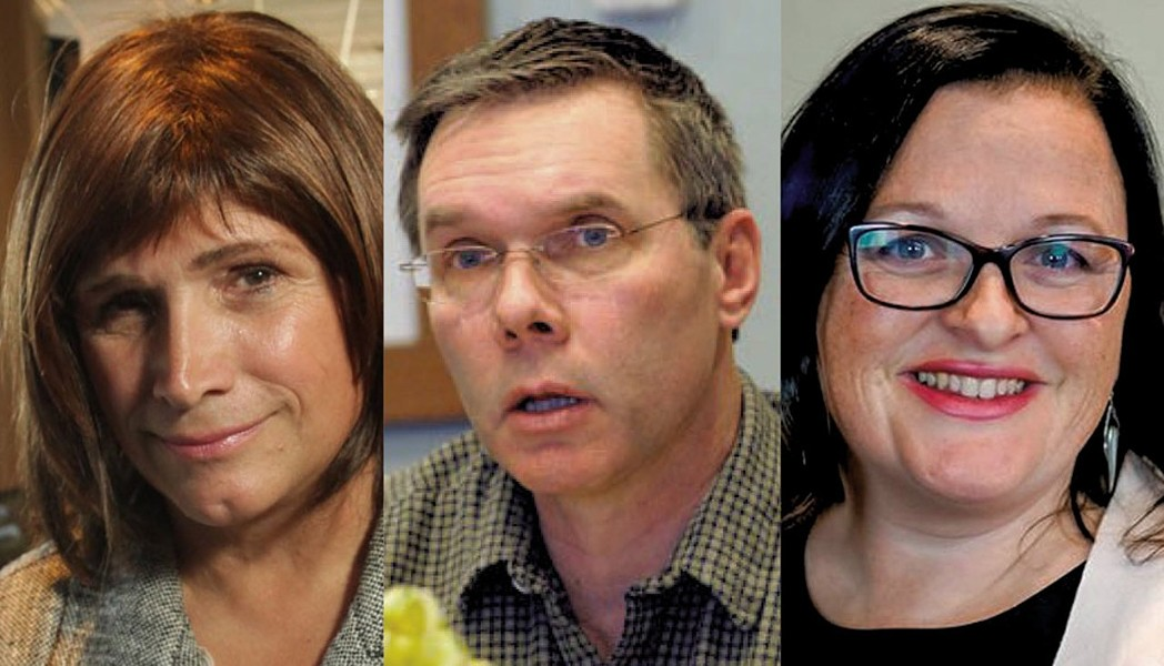 Left to right: Christine Hallquist, James Ehlers, Brenda Siegel - MATTHEW THORSEN; FILE: JEB WALLACE-BRODEUR