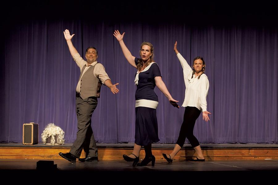 From left: Scott Weigand, Jennifer Warwick and Abby Erwin - COURTESY OF ADAM SILVERMAN