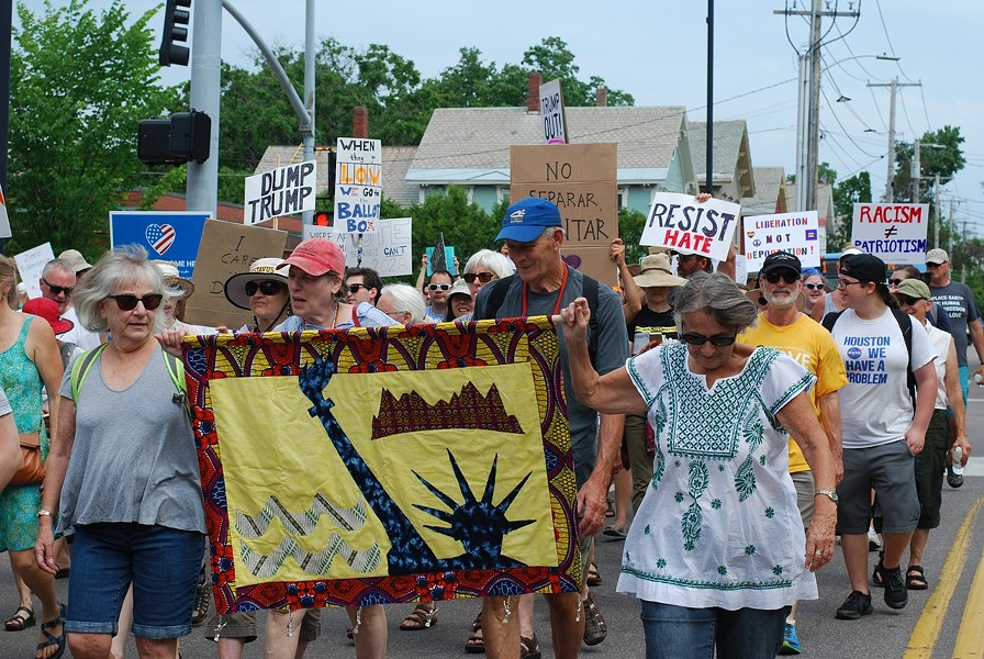 Protesters on Saturday - SARA TABIN