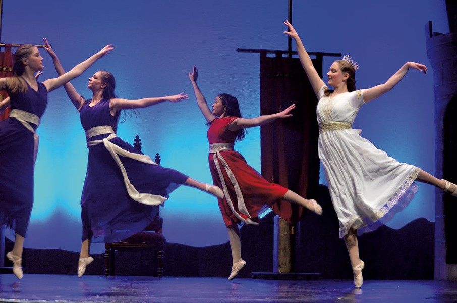 Vermont Youth Dancers performing Castle on the Hill: A Tale of King Arthur - COURTESY OF ROB GROFF