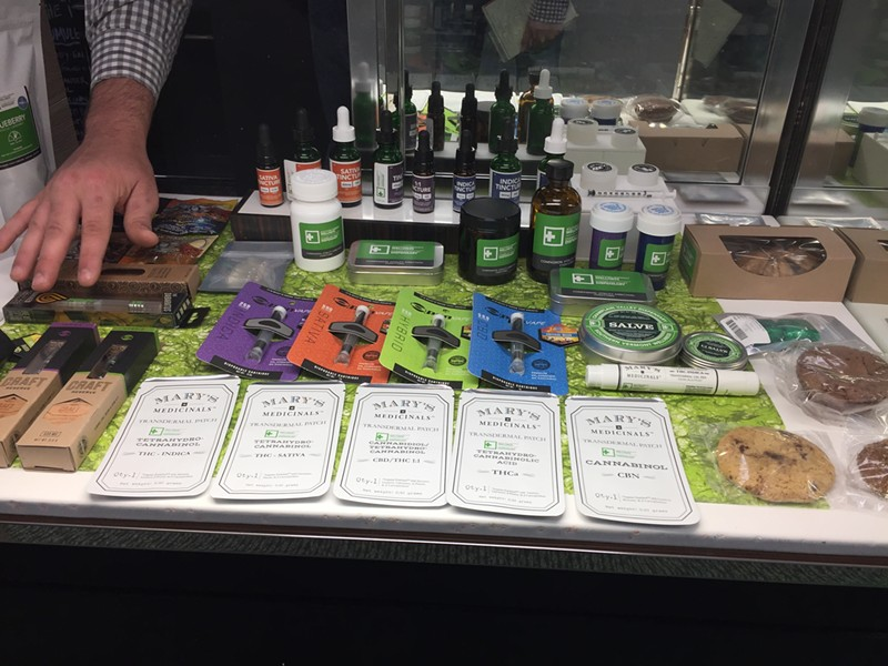 Products at the dispensary - SASHA GOLDSTEIN