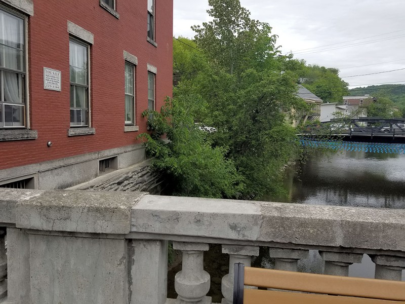 North side of the Rialto Bridge, on State Street in downtown Montpelier - KEN PICARD
