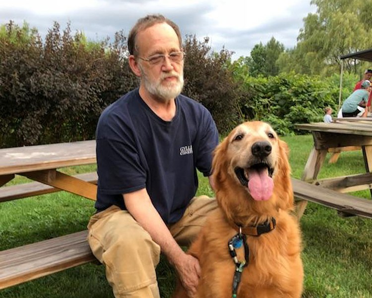 Ed Hamel and Murphy the dog - COURTESY OF WILSON RING