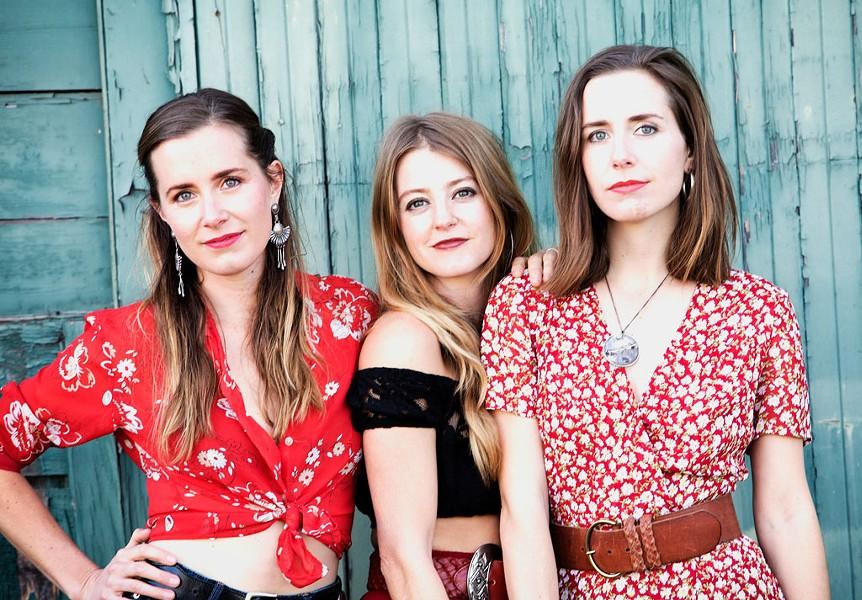 The T Sisters, from left: Chloe, Erika and Rachel Tietjen - COURTESY OF KELLY OWEN