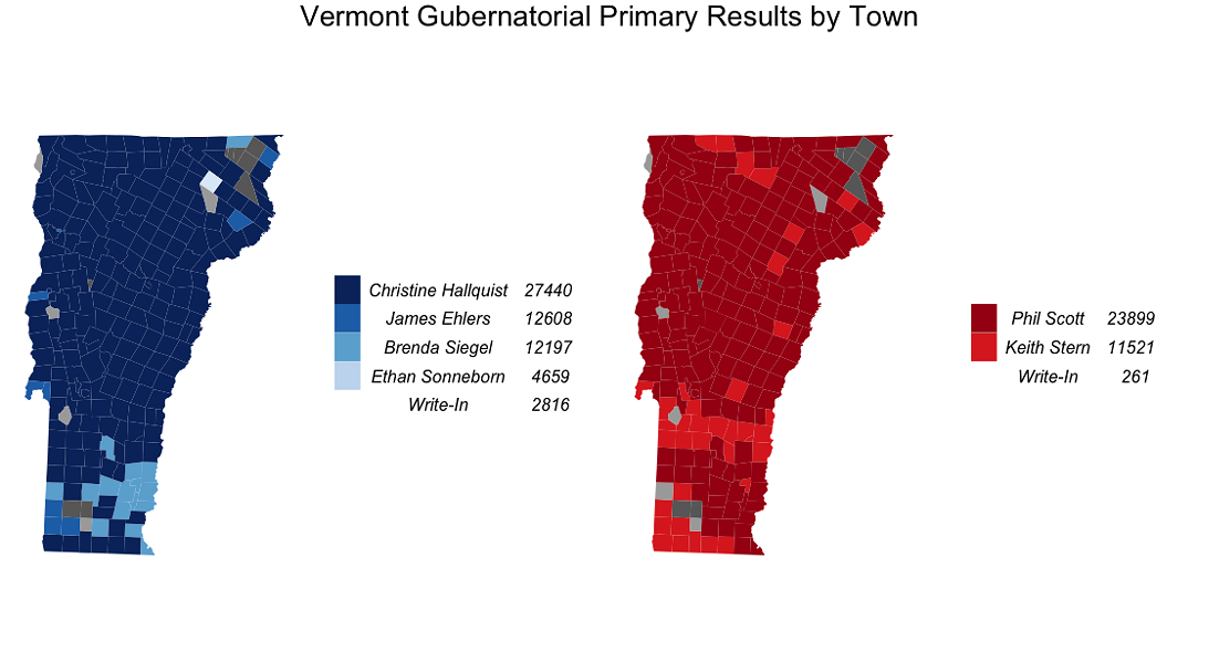 Updated Wednesday, August 15, 2018, at 9:51 a.m.Data: Unofficial results from the Vermont Secretary of State. - ANDREA SUOZZO