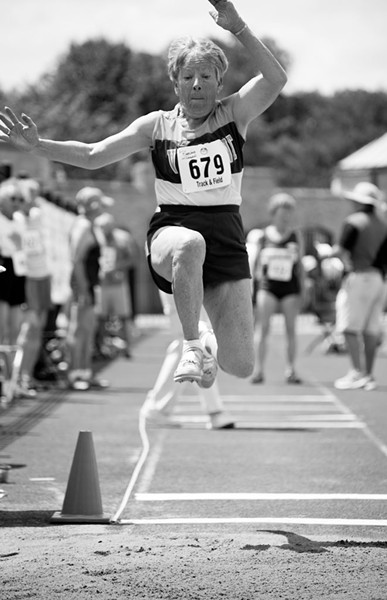 """Elliot Burg, """"Barbara Jordan, 80, Long Jump"""""""