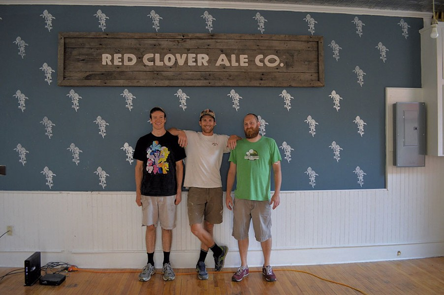 From left: Riker Wikoff, Pete Brooks and Andrew Gate - COURTESY OF RED CLOVER ALE
