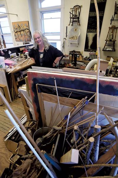 Janet Van Fleet in her studio - JEB WALLACE-BRODEUR