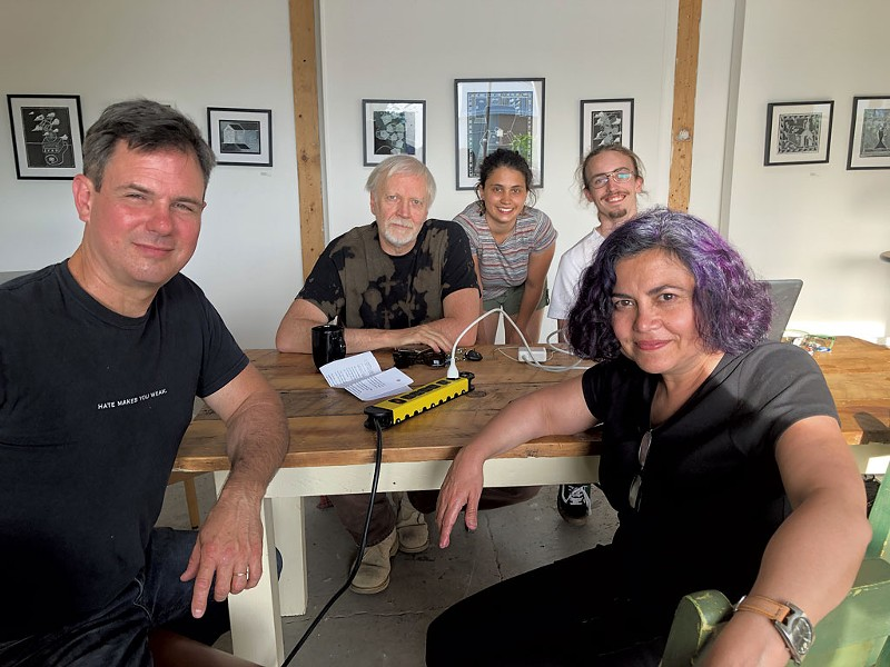 From left: Jim Lockridge, Paul Schnabel, Ilana Wagener, Jake Yeomans and Tina Escaja - COURTESY OF JEAN WALTZ