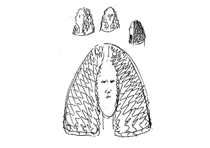 Rough sketch of missing artwork - COURTESTY OF VAUGHN JUDSON