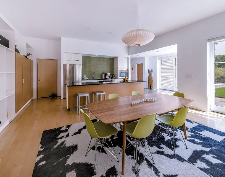 the dining room and kitchen - LINDSAY SELIN
