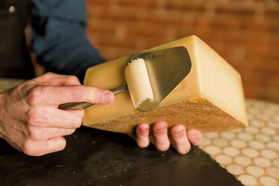 The Cellars at Jasper Hill Farm's Alpha Tolman cheese - OLIVER PARINI