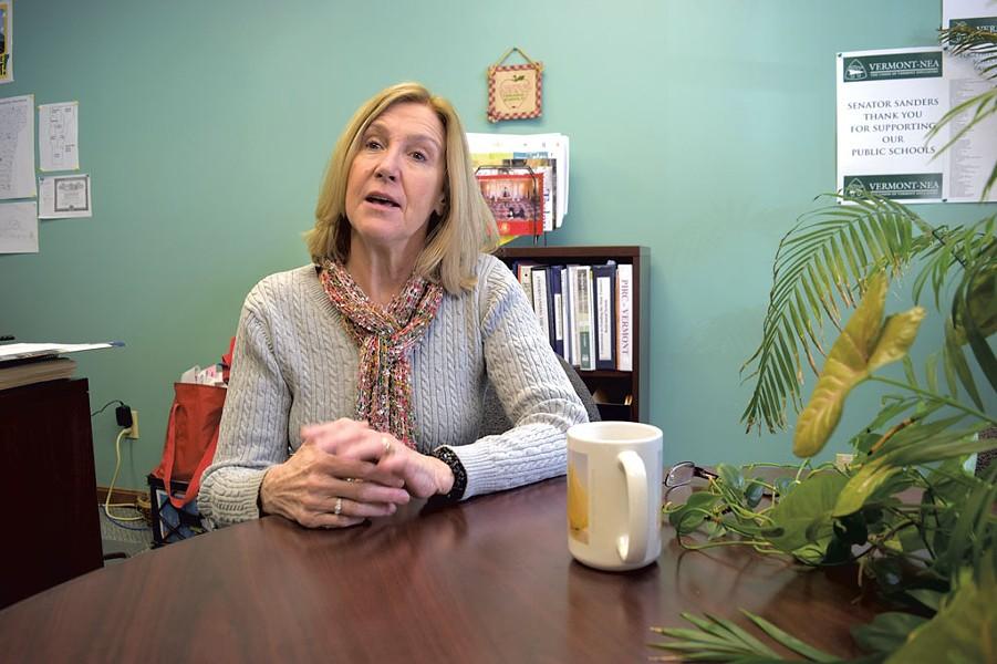 Former Vermont-NEA president Martha Allen - FILE: TERRI HALLENBECK