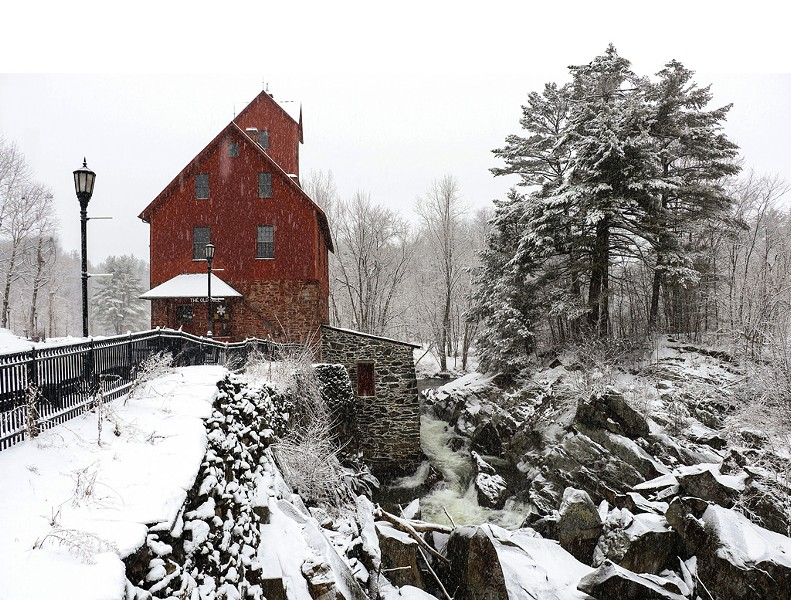 Old Red Mill, home to the Jericho Historical Society's Snowflake Bentley exhibit - DAN KRIEGER