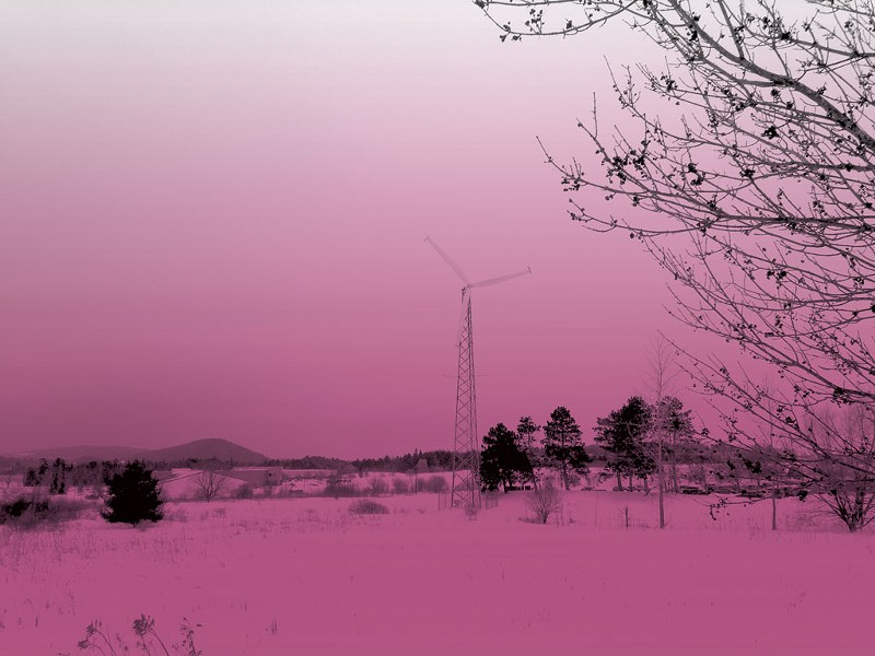The wind turbine near I-89 - KEN PICARD