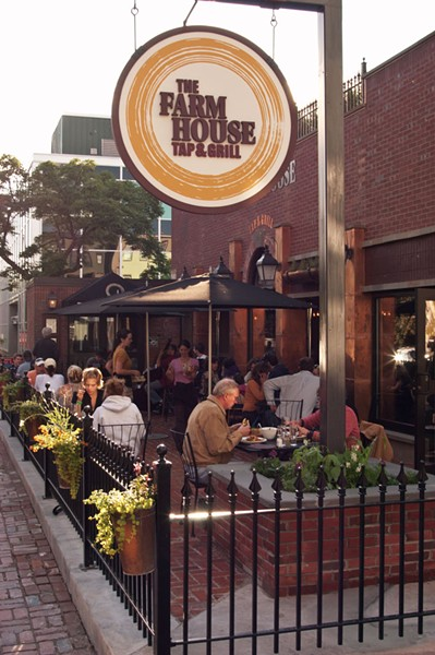 Outdoor dining at the Farmhouse Tap & Grill - FILE: MATTHEW THORSEN