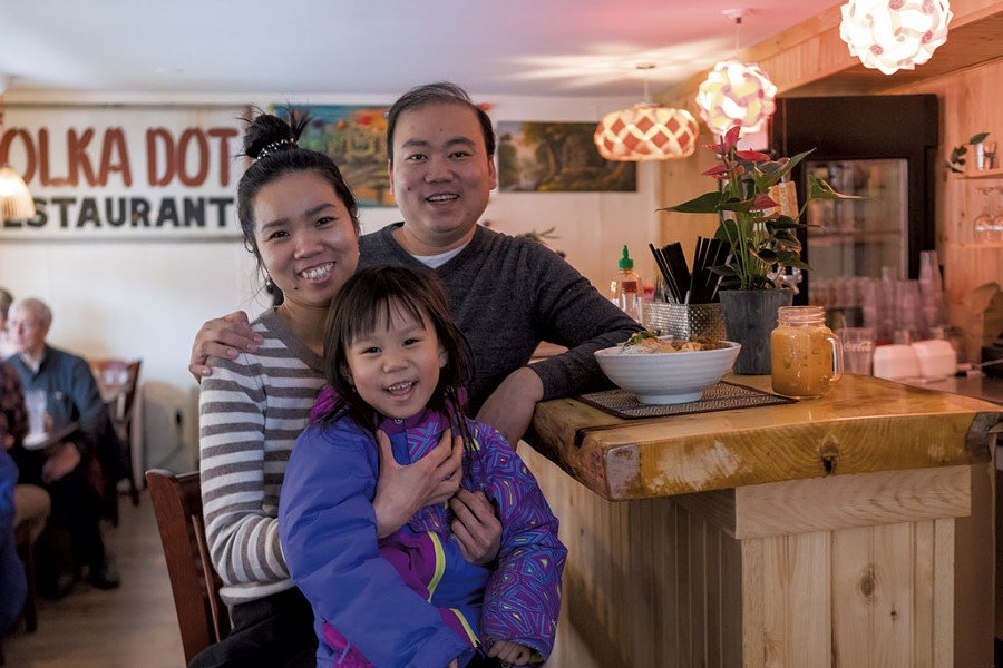 Lay Yi and Sarin Tin and their daughter - TOM MCNEILL