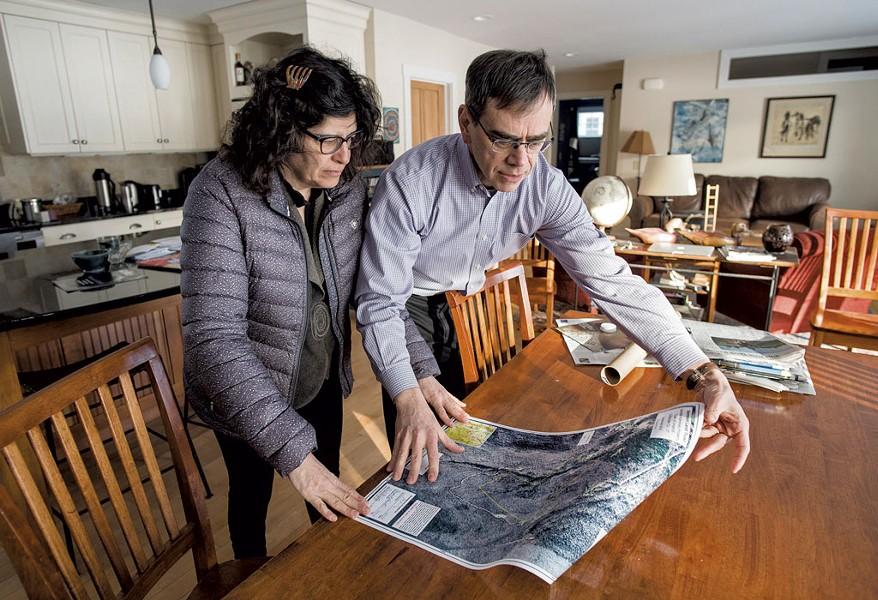 Above: Meg Handler and David Kaminsky in their Hinesburg home - GLENN RUSSELL