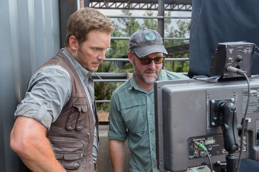 Chris Pratt and Colin Trevorrow - COURTESY OF NBCUNIVERSAL