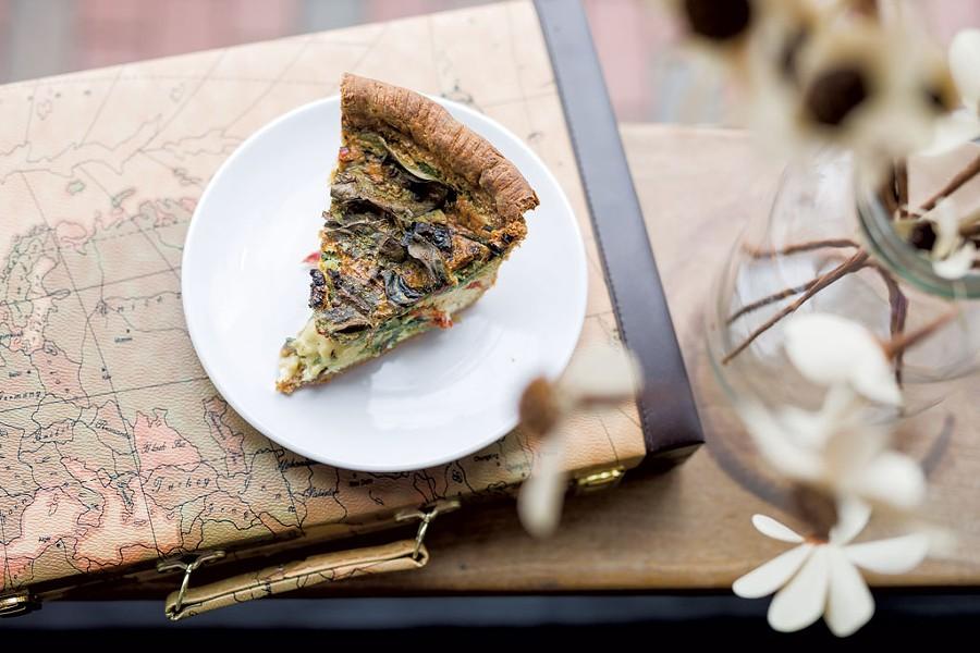 Spinach, tomato and ricotta quiche at Sweet Babu - OLIVER PARINI
