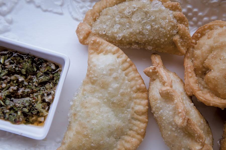 Vegetarian empanadas at Dale Boca Café - LUKE  AWTRY