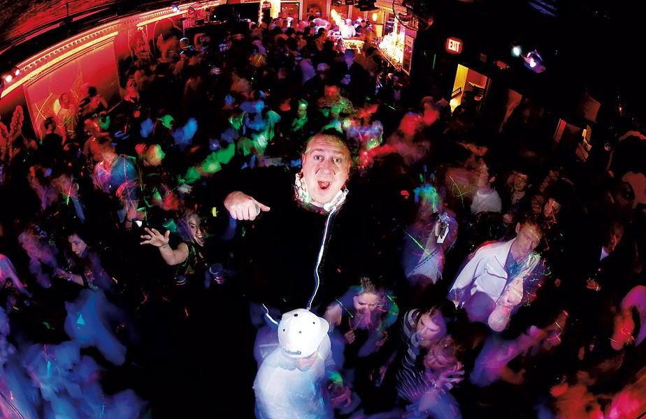 "Kyle ""DJ Fattie B"" Thompson at Retronome - COURTESY OF BRIAN JENKINS"