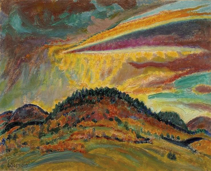 """Sunset Over Baxter Mountain"" - COURTESY OF THE HAROLD WESTON FOUNDATION"
