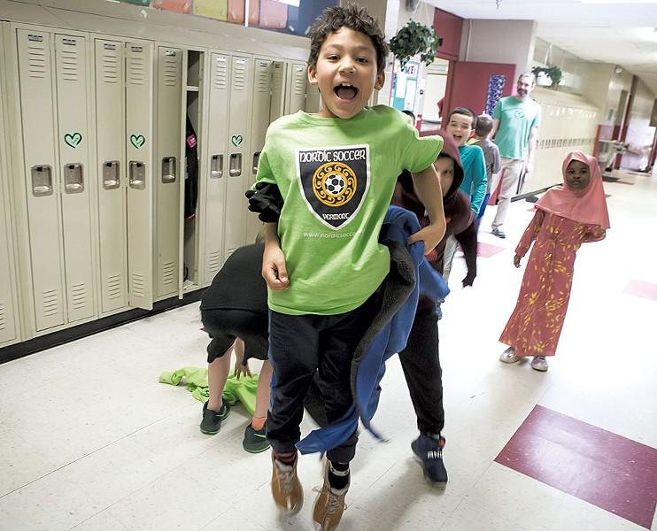 Students at JFK Elementary School - LUKE AWTRY