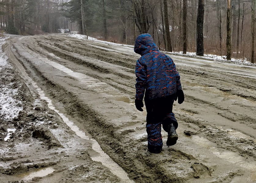 Walking the muddy gap road - COURTESY OF MELANIE HALL