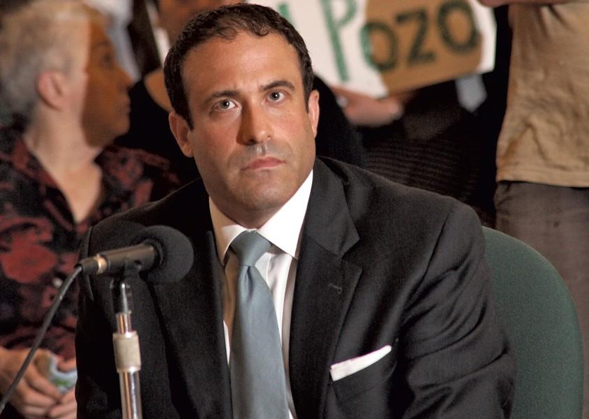 Brandon del Pozo at Monday's city council session - MATTHEW THORSEN