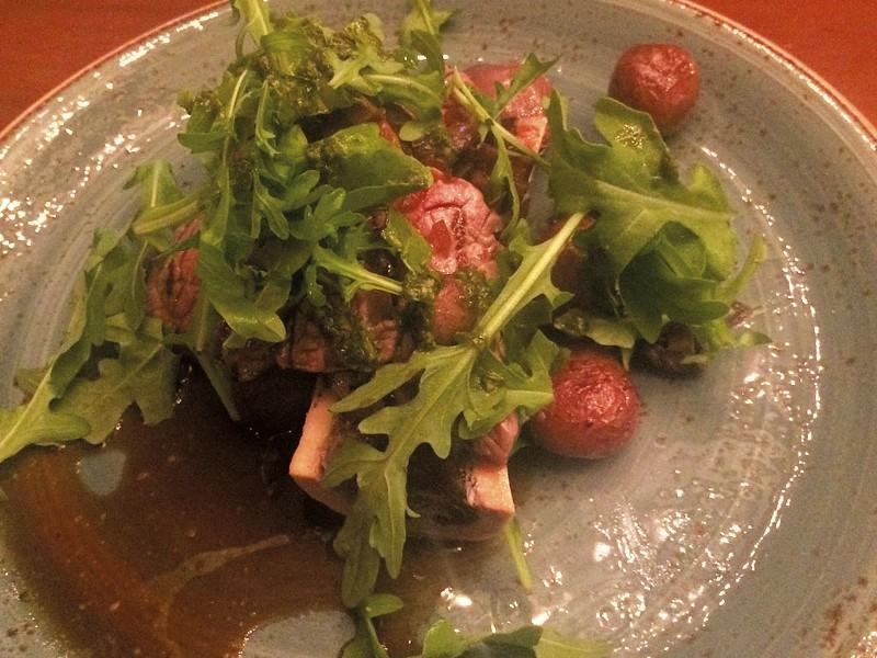 Roasted bone marrow at Restaurant Lyvano - MOLLY ZAPP