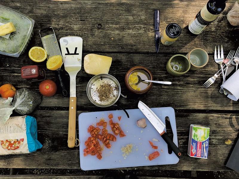 Prepping the pasta - SABINE POUX