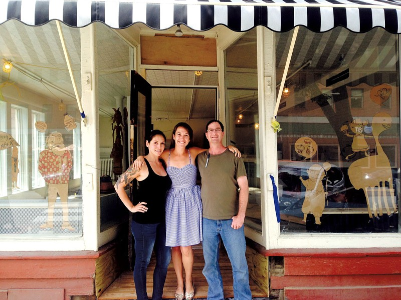 Manager Veronica Pollan, - owner Mary Alice Profitt - and chef Artie Fleischer - in front of Down Home - COURTESY OF DOWN HOME