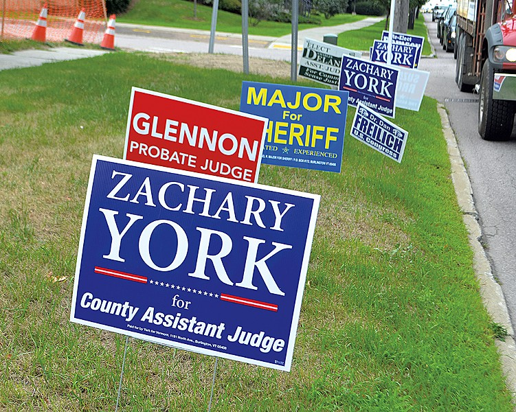 Campaign signs during the 2018 election - FILE: KATIE JICKLING