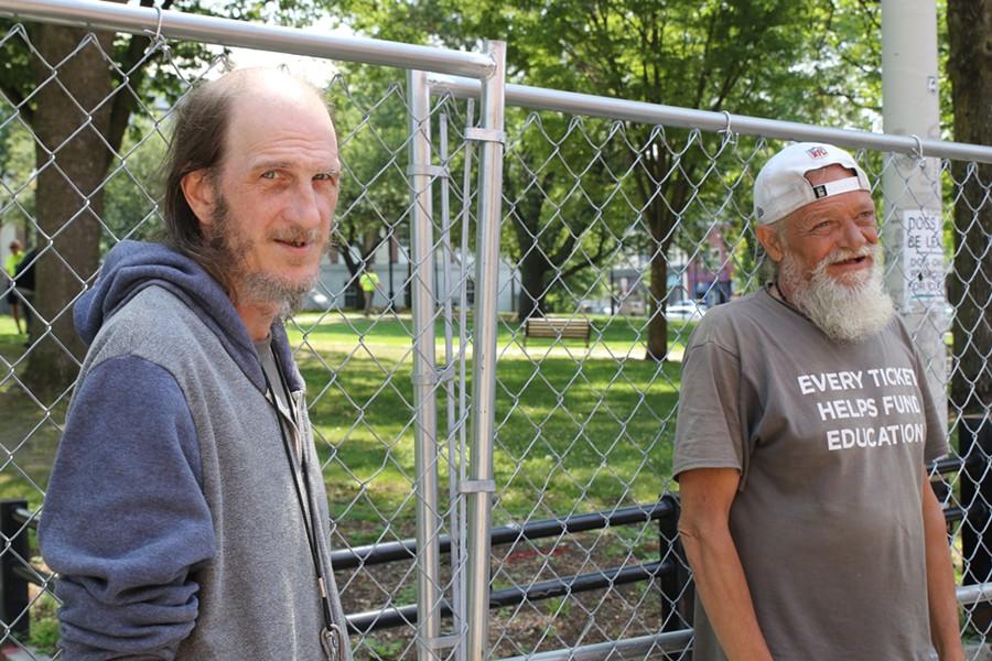 Jamie Bove and Robert Sawyer at City Hall Park - COURTNEY LAMDIN