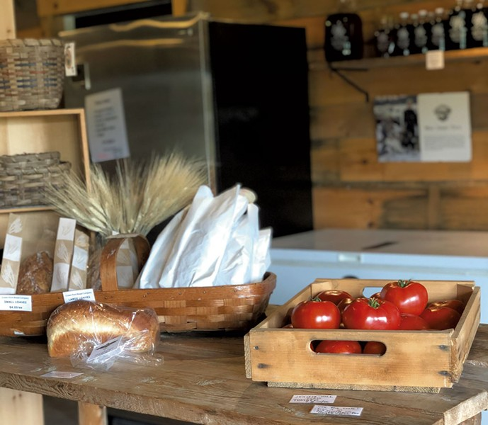 Local goods in the market at the Hub on the Hill - JORDAN BARR