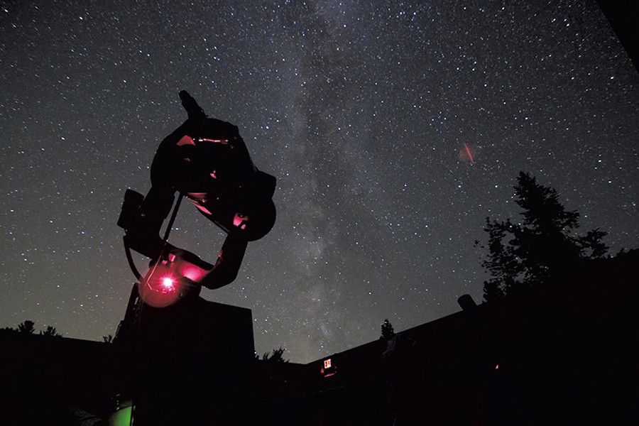 A telescope in the Adirondack Sky Center observatory