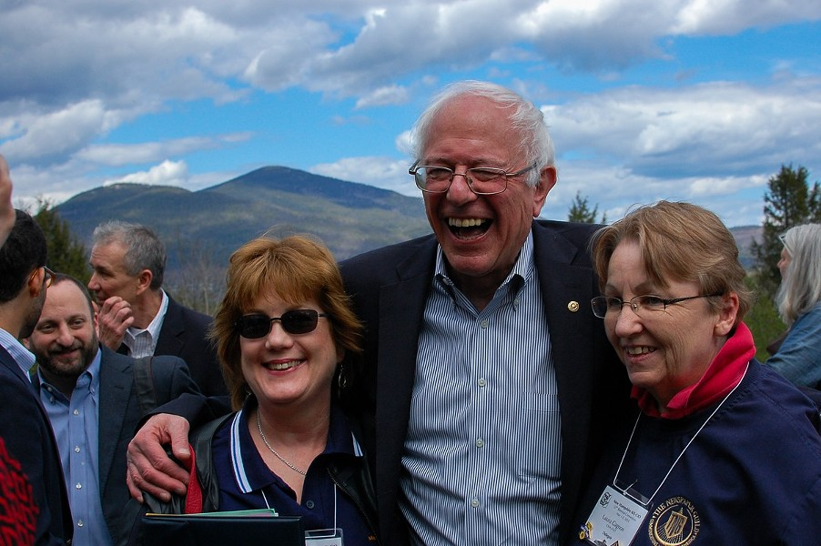 Sen. Bernie Sanders campaigning in New Hampshire in May - FILE: MORIAH HOUNSELL