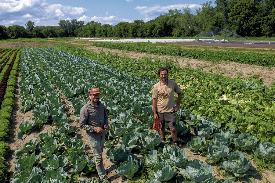 From left: Rob Rock and Eric Seitz, co-owners of Pitchfork Farm at the Intervale - JAMES BUCK