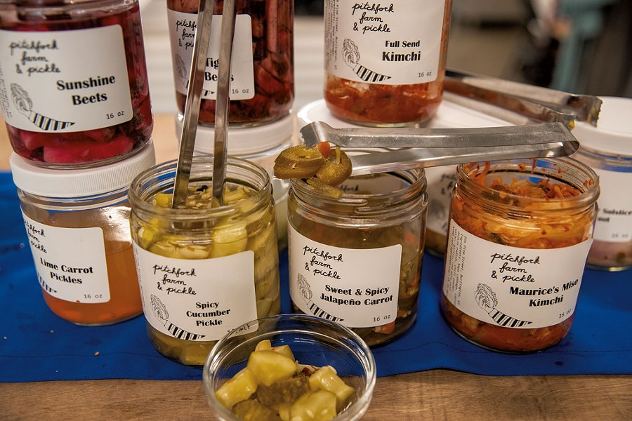 A selection of Pitchfork Farm's pickles - JAMES BUCK