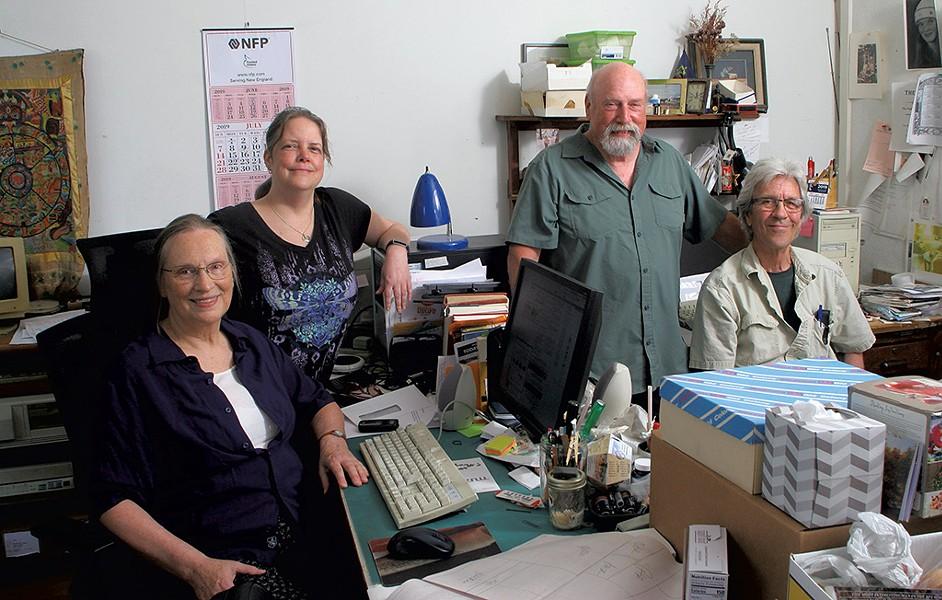 Green Mountain Trading Post staff, from left: Sharon Reihmer, Dorinda Michaud, Gary Lotspeich and Bill Thompson - ROBERT C. JENKS