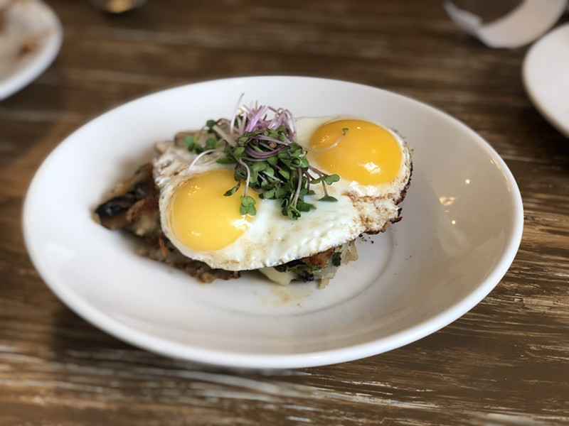 Veggie-stuffed hash special at Starving Artist Café - JORDAN BARRY